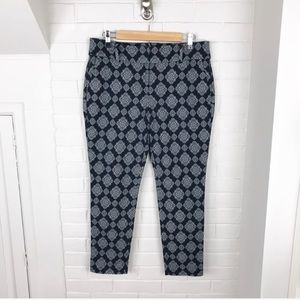 {Ann Taylor} Petite Cropped Patterned Ankle Pants